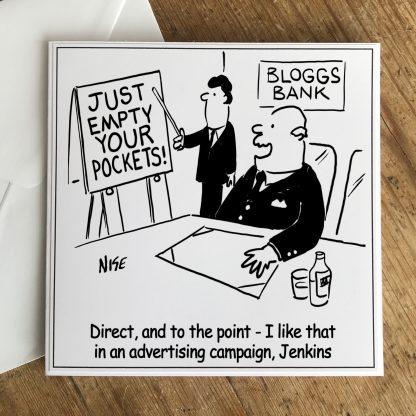 Bank Manager Boss Likes New Marketing Slogan