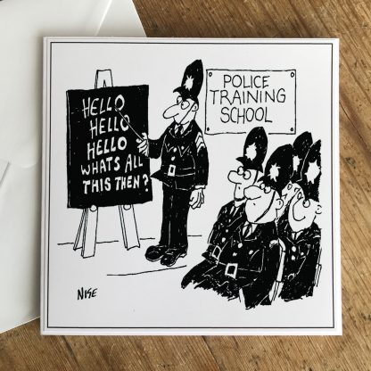 Police Training School Greetings Card