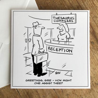 Thesaurus Publishers Receptionist Greeting