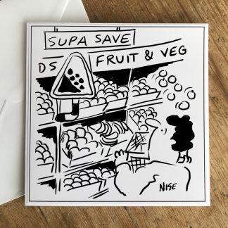 Tumbling Fruit In Supermarket Warning