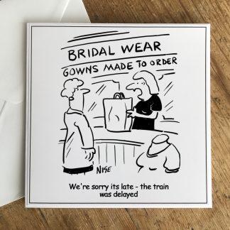 Wedding Dress Train Was Delayed