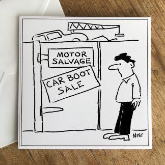 Car boot sale at a Scrapyard